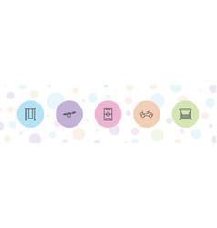 5 playground icons vector