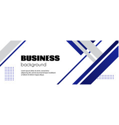 abstract business background minimal long banner vector image