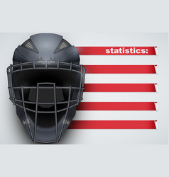 Background of baseball statistics vector