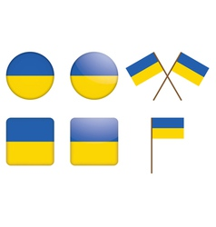 badges with flag of Ukraine vector image