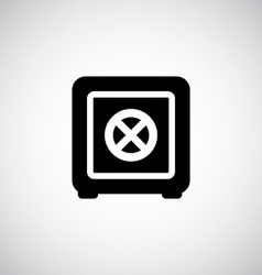 bank safe sign vector image