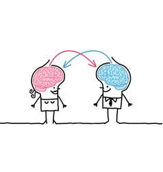 Big brain couple exchange vector