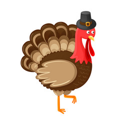 bird symbolic animal of thanksgiving day vector image