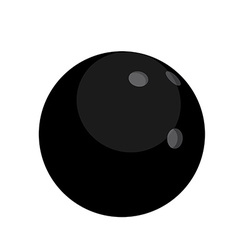 Black bowling ball vector image