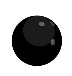Black bowling ball vector