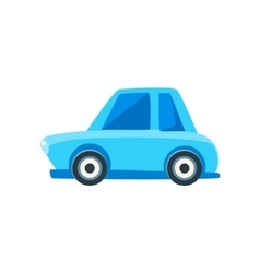 Blue Sedan Toy Cute Car Icon vector