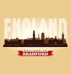 bradford united kingdom city skyline silhouette vector image