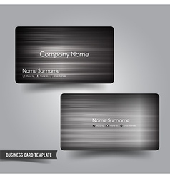 Business Card template set 54 Dark metal and steel vector