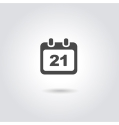 Calendar Icon with date vector