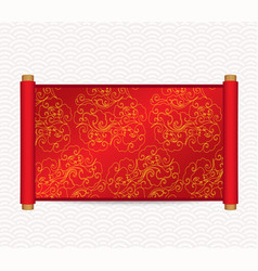 Chinese style scroll vector