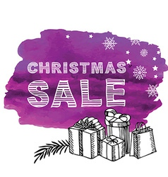 Christmas Poster Sale vector