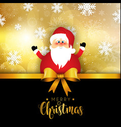 Christmas santa on snowflake background vector
