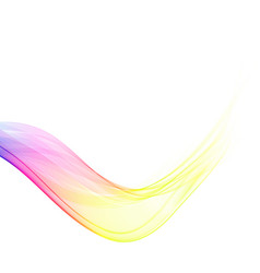 color abstract wave on a white background vector image