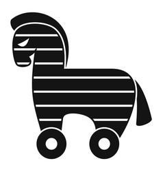 Computer trojan horse icon simple style vector