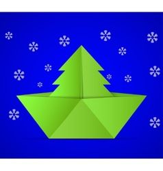concept of the Christmas tree vector image vector image