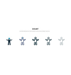 Doubt icon in different style two colored and vector