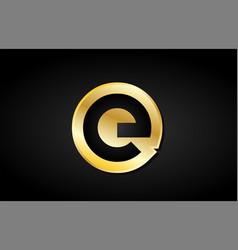 e gold golden letter logo icon design vector image