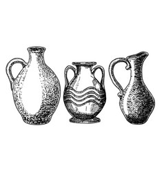 earthenware and ceramic sketch set vector image