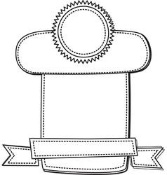 Emblem and ribbons vector