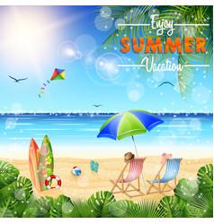 enjoy summer vocation vector image