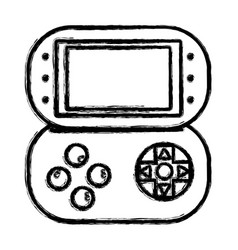 Figure videogame console toplay and enjoy vector