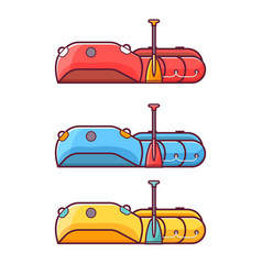 Fishing inflatable rafting boat icon vector