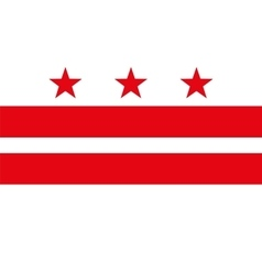Flag of the District of Columbia vector
