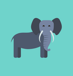 flat icon stylish background cartoon elephant vector image