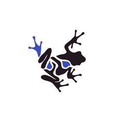 Frog color frog vector