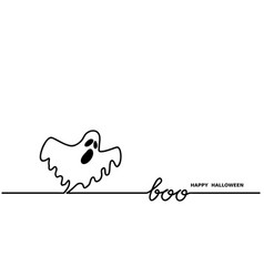 ghost says boohappy halloween simple one vector image