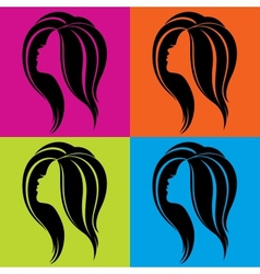 Girls profile in pop-art style vector image