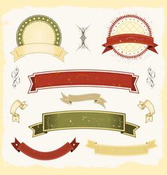 grunge banner set vector image