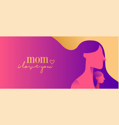 Happy mother day web banner for children love vector
