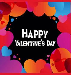 Happy valentine day instagram card in trendy color vector