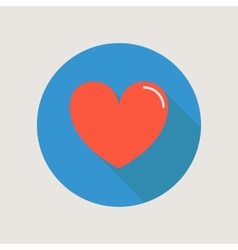 Heart Icon concept love relationship valentines vector image