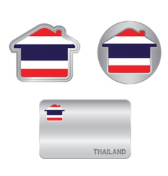 Home icon on the Thailand flag vector image