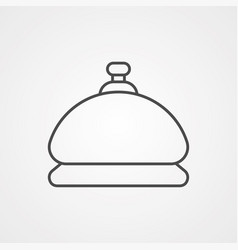 hotel bell icon sign symbol vector image
