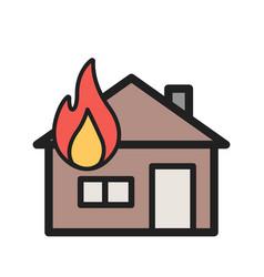 House on fire vector