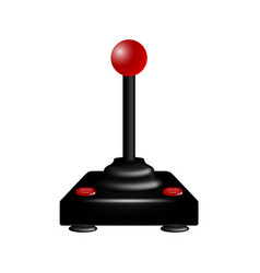 joystick in retro design vector image