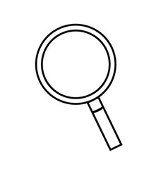 lens magnifying glass cartoon vector image
