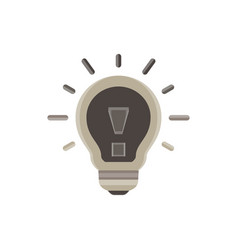 lightbulb icon bulb light idea design isolated vector image