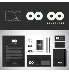 Limitless Abstract Logo Template and Identity vector image