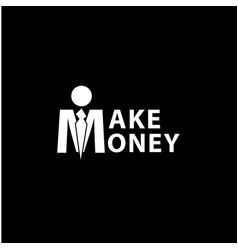 Make money lettering vector