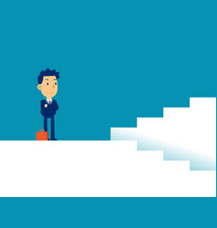 Man with decisions concept business direction vector