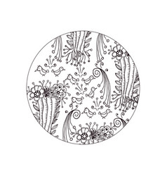 mandala ornament decorative doodles in zentangle vector image