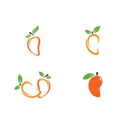 mango in flat style mango logo vector image