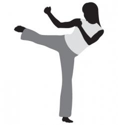 martial art vector image