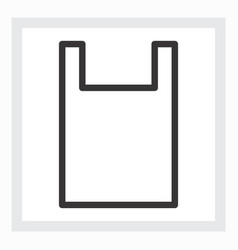 Minimal shopping bag icon vector