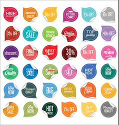 paper sale stickers collection 1 vector image
