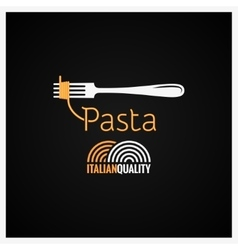 Pasta Spaghetti On Fork Background vector image vector image
